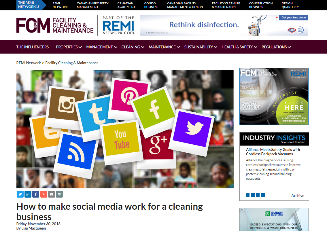 How Cleancorp uses social media to build a relationship with their clients